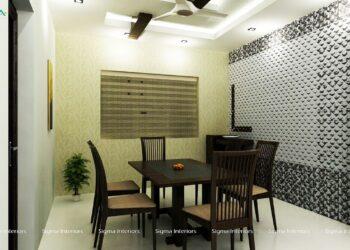 Stylish and trendy dining interior