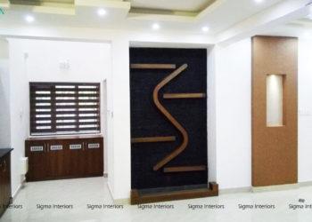 Living Room Designed by Sigma Interiors, Kochi