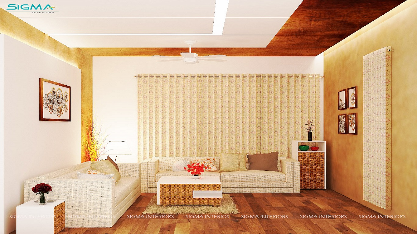 Contemporary style living room with gorgeous floral beige color theme