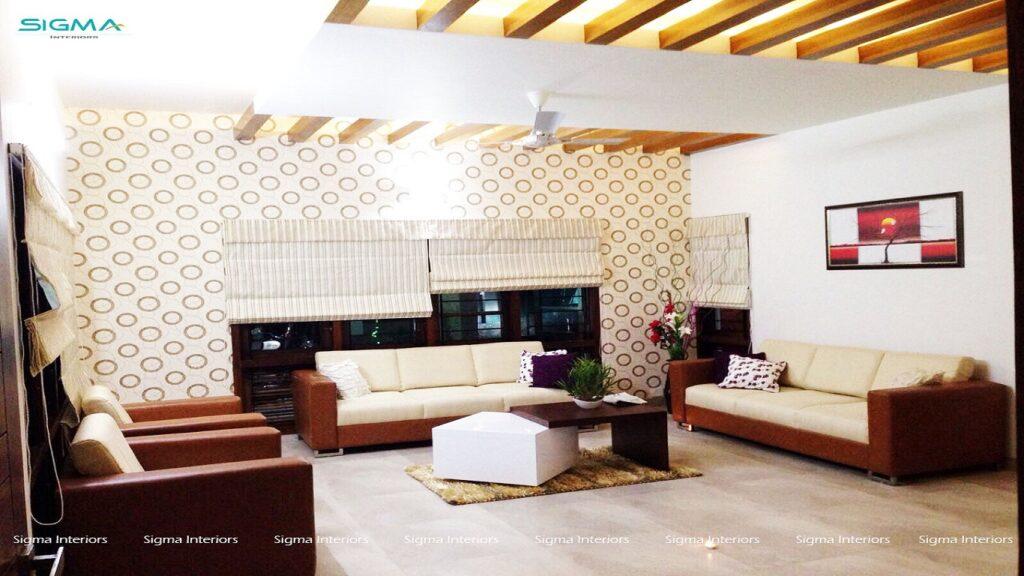 Modern living room design-close up view