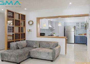 Modern, stylish living cum kitchen